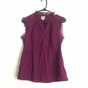 Converse Sleeveless button up blouse